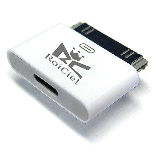 RoiCiel ロイシエルLightning 変換コネクタ  Lightningメス-iDockオスiPhone6からiphone4へ変換コネクタ 充電器 充電アダプター 8pin Lightning DOCK iphone6 /iphone5iPad mini iPod Lightning 30ピンアダプタ iphone4s/4