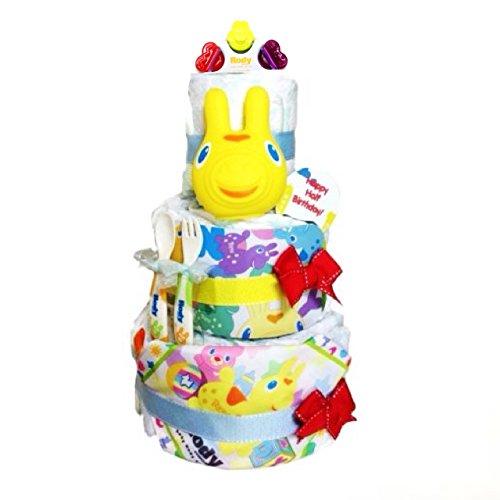 ロディオのおもちゃがついたおむつケーキは出産祝いで人気