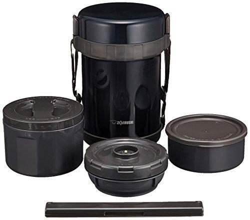 象印 ( ZOJIRUSHI ) 保温弁当箱 ステンレスランチジャー ネイビーブラックお茶わん約3杯分 SL-GG18-BD