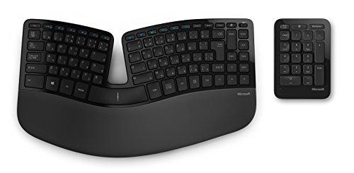 マイクロソフト キーボード ワイヤレス/人間工学デザイン Sculpt Ergonomic Keyboard for Business USB Port 5KV-00006