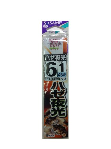 ささめ針(SASAME) AA605 ハゼ 夜光 糸付 6