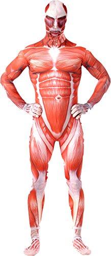 進撃の巨人 超大型巨人 全身タイツバージョン2 キャラクターポストカード付き コスチューム メンズ XLサイズ