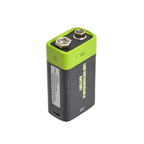 充電器不要!USB充電できる乾電池 サンコーレアモノショップ (9V形) 【徹底比較】「充電式 9v電池」特集!コスパがよくて安い!ギター・ベースのエフェクター・プリアンプにオススメ!四角い電池【容量・価格】