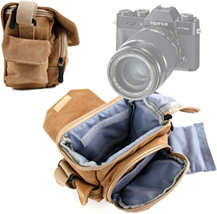 ライトブラウン中サイズキャンバスCarry Bag Fujifilm x-t20