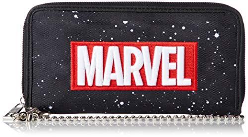 [マーベル] ウォレット 財布 長財布 MARVEL マーベル 刺繍ロゴ レディス メンズ MV-WLT22 ブラック