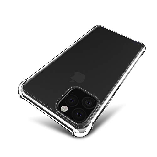 iPhone XI MAX 6.5 inchケース【SLEO】 軽量 TPUケース 全面クリア 触覚シリーズ iPhone XI MAX 6.5 inchカバー 薄型 耐衝撃(クリア)