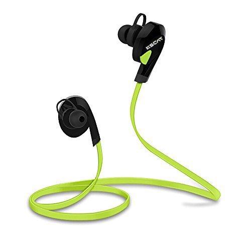 KSCAT ワイヤレス イヤホン Bluetooth4.1 高音質 ステレオ ハンズフリー通話 カナル型 ヘッドホン CVCノイズキャンセリング搭載 スポーツ仕様 防水 ヘッドセット 2台と同時に接続可能 iPhone、Android スマホに対応 グリーン