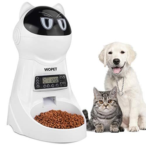 WOpet 自動給餌器 自動餌やり器 猫 中小型犬用 ペット自動餌やり機 タイマー式 録音可 最大15日連続自動給...