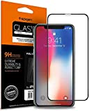 【Spigen】 iPhone XS ガラスフィルム/iPhone X ガラスフィルム 対応 全面フルカバー 全面液晶保護フィルム 9H硬度 發油加工 3DTouch Face ID 対応 063GL25234 (FC HD Black (1枚入))