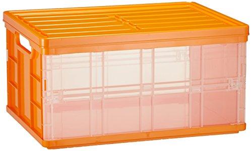 ナカバヤシ 折りたたみコンテナ フタ付き収納ボックス オレンジ CFC-TC501KO