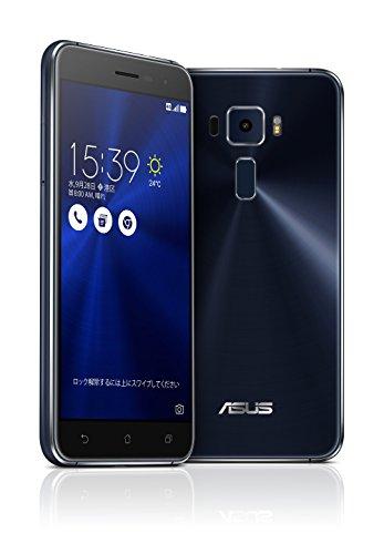 ASUS ZenFone3 SIMフリースマートフォン (ブラック/5.2インチ)【日本正規代理店品】(オクタコアCPU/3GB/32G...