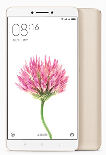 "4G+3G Xiaomi シャオミ 小米 MI MAX Snapdragon 650 6.44"" 4850mAh 32GB 3GB RAM International Edition (32GB, ゴールド)"