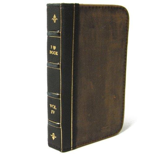 ティーエムセントラル レイ・アウト 古い洋書のようなiPhone 4/4S ケース Bookケース for iPhone 4/4S ブラック 黒