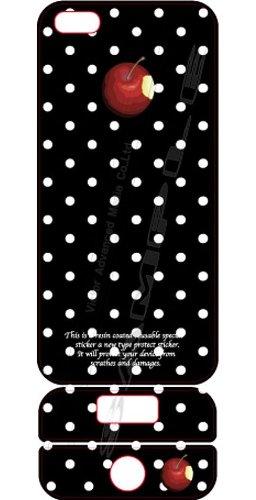 ビクターアドバンストメディア iPhone5/5S デザイナーズデコレーションシール KL-I5APPLE-K