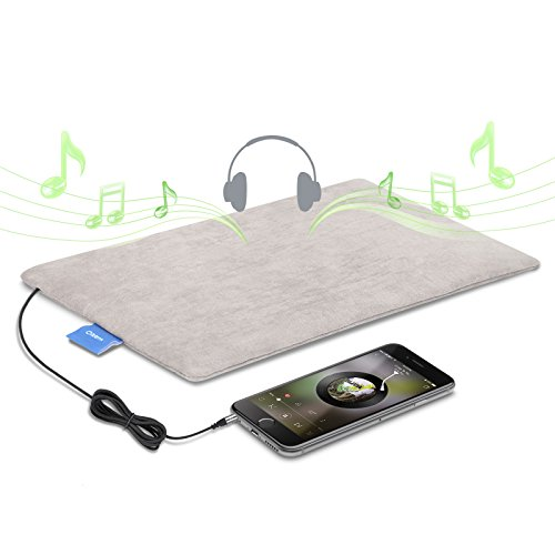 Oittm 薄型ピロースピーカー マット型 まくら 安眠 コンフォート 枕用スピーカー ステレオ 音楽再生 クッション APP対応 目覚まし時計 睡眠検測 携帯便利 iPod iPhone スマートフォン MP3プレーヤー等対応 グレー