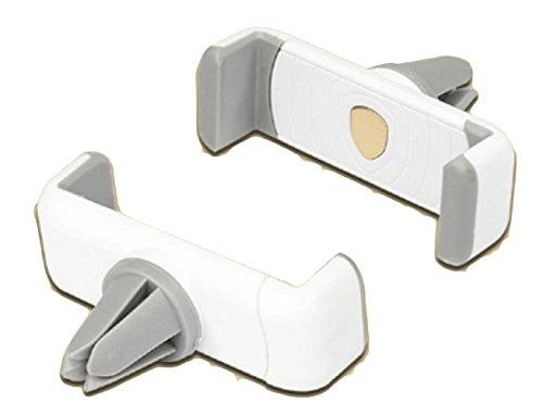 スマホ車載ホルダー (ホワイト、ブルー、ブラック) エアコン吹き出し口に取り付け 360度回転可能 携帯・モバイル車載スタンド iPhone カー用品 スマートフォン アイフォン ホワイト