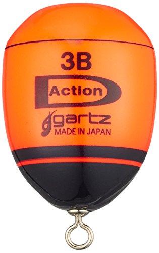ガルツ(gartz) ディーアクション 環付 3B/オレンジ