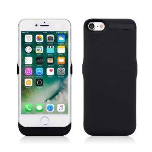 TECHY 大容量10000mah iphone 7/iphone 8用 モバイル バッテリー内臓ケース パワーバンク iphoneを2回以上充電 【日本語取扱説明書】 (ブラック)