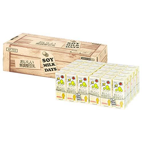 【Amazon.co.jp 限定】キッコーマン飲料 おいしい無調整豆乳 SOYMILK DAYS 200ml×30本