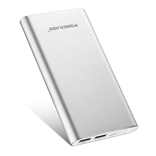 「バージョンアップ」Poweradd Pilot 2GS 10000mAh モバイルバッテリー 合計3.4A急速充電 iPhone / iPad / Galaxy / Xperia / Nexus / PSvita / タブレット / ゲーム機 等対応(シルバー)