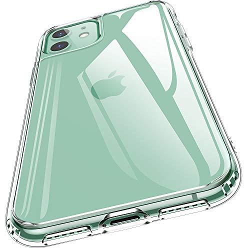 Humixx iPhone 11 ケース 日本旭硝子製 背面9Hガラス 透過率99.9% サイドTPU Crystal Series