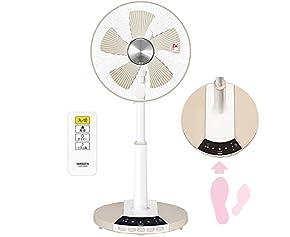 山善(YAMAZEN) 30cmリビング扇風機 「あしもとスイッチfan」 (リモコン)(風量3段階) タイマー付 ホワイトベージュ TLR-CG30(WC)
