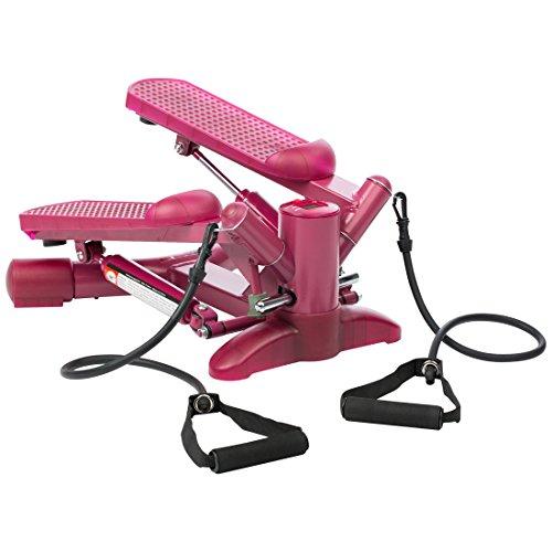 ウルトラスポーツ 自宅用昇降ステッパー 負荷バンド付き ピンク