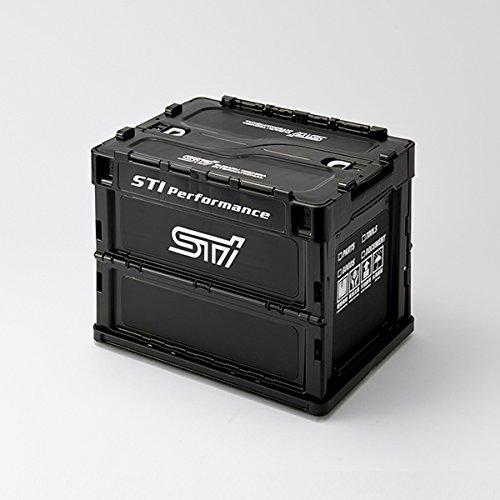 SUBARU【スバル純正】STI【折りたたみコンテナ Sサイズ】ブラック