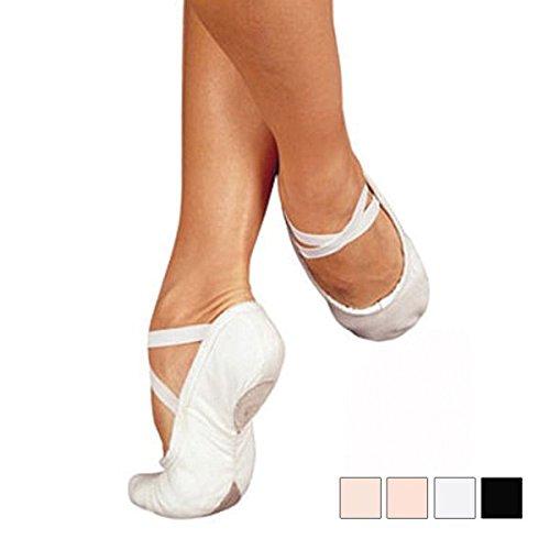 【サンシャ製】スプリットソール布製バレエシューズ<Pro C1>広いW巾 ライトピンク 10(25.0cm)