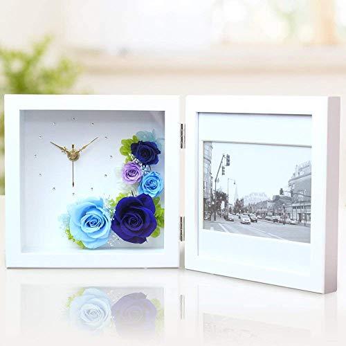 プリザーブドフラワーフォトクロックは結婚式の記念品とし人気のギフト