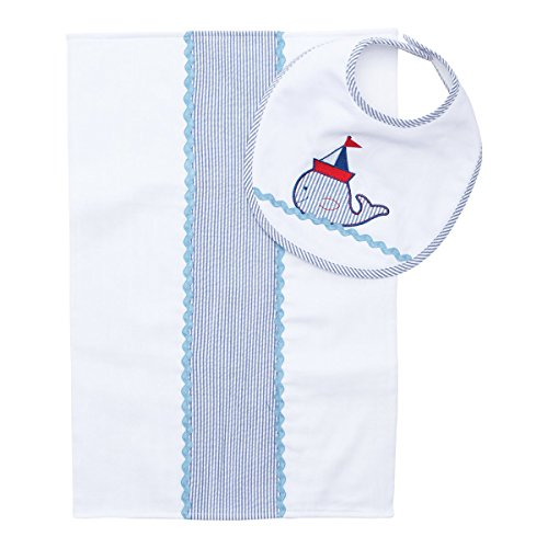 Elegant baby perfect shower gift burp cloth and bib set elegant baby perfect shower gift burp cloth and bib set nautical boy by elegant baby negle Images