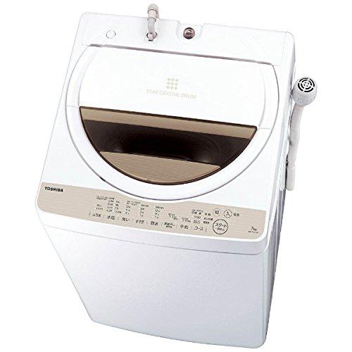 東芝 全自動洗濯機 7kg ステンレス槽 風呂水ポンプ付  グランホワイト AW-7G5(W) AW-7G5(W)