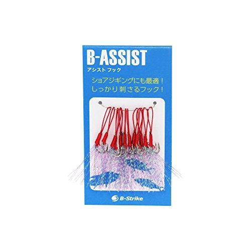 ビーストライク【B-ASSIST(7号 M)】アシストフック(伊勢尼タイプ)10本セット ショアジギングに最適 ティンセル付き 釣り針
