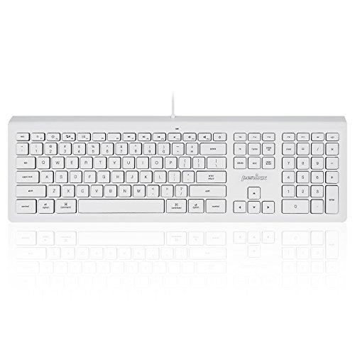ぺリックス PERIBOARD-323 有線キーボード Mac Os X 対応 薄型 ホワイト LED付 スタンダードサイズ 英語配列【正規保証品】