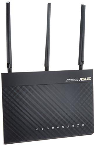 ASUS  WiFi 無線LAN ルーター RT-AC68U 11ac 1300+600Mbps 最大18台 4LDK 3階建向け 【 iPhone X / 8 / 8Pl...