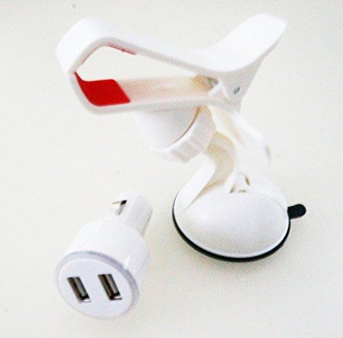 WUPP カー用品 と シガーソケット 2.1A と 卓上 車載ホルスター セット 便利グッズ ホワイト
