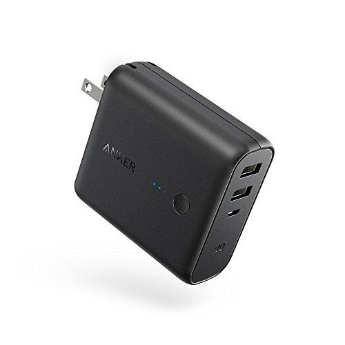 Anker PowerCore Fusion 5000 (5000mAh モバイルバッテリー搭載 USB急速充電器) 【PowerIQ搭載 / 折畳式プ...