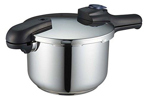 パール金属 圧力鍋 5.5L IH対応 3層底 切り替え式 レシピ付 クイックエコ H-5042 フラストレーション・フリ...