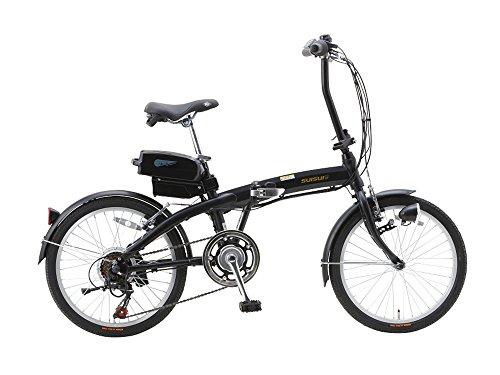 SUISUI(スイスイ) 折りたたみ電動アシスト自転車 BM-A30 ブラック 3灯LEDライト付 5.8Ahリチウムイオンバッテリー搭載 20インチ 6段変速 アルミフレーム 28473-0123