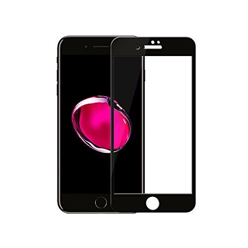 iphone7plus 強化ガラス 液晶保護フィルム 全面フルカバー 3Dラウンドエッジ加工 0.33mm 硬度9H 【一年間安心保証付き】iphone7 plus ブラック