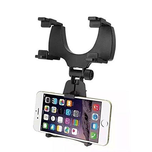 Tumaotec  車載ホルダー カーナビ取り付け 車&バイク 車載バックミラー iphoneスマートフォン車載ホルダー 携帯ステントナビゲーションステントを調節すること ポータブルオーディオ用車載アクセサリができる