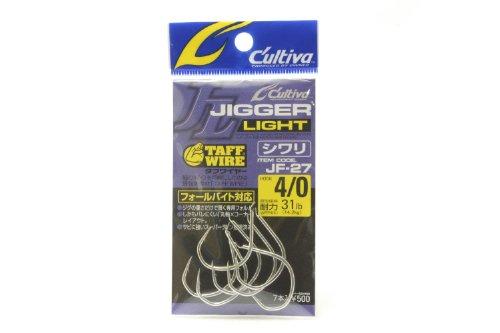 OWNER(オーナー) ジグフック JF27 カルティバ ジガーライト シワリ 4/0号