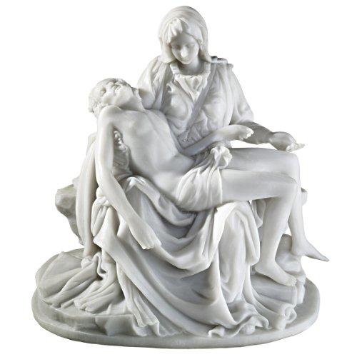 ミケランジェロ 1499年制作 ピエタ 大理石風 彫像 彫刻 高さ約16.5cm/ Design Toscano The Pieta (1499) Bonded Marble Medium Statue(輸入品