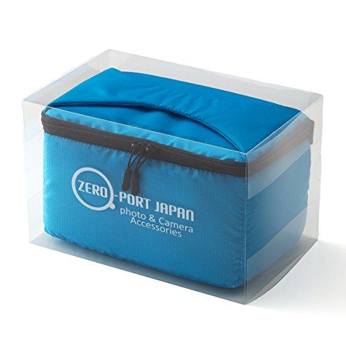 ZEROPORT JAPAN 一眼レフ カメラバッグ インナーバッグ ソフトクッションボックス インナークッションケース 撥水加工 ブルー ALIBAGINBAGZPJ23HASSUIBLUE