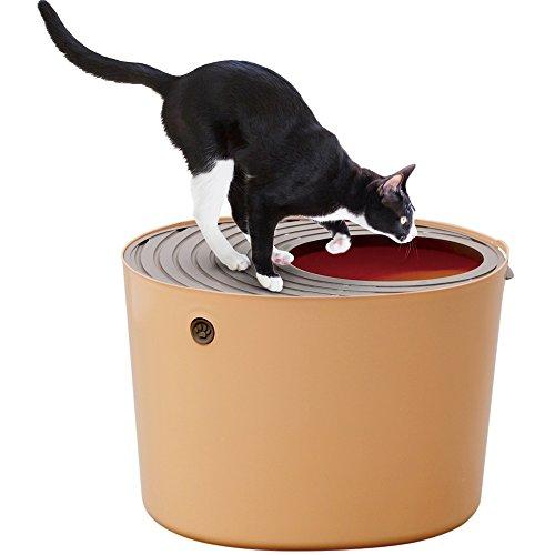 アイリスオーヤマ 上から猫トイレ オレンジ PUNT-530