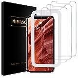 【ガイド枠付き】【3枚セット】 Nimaso iPhone XR 用 強化ガラス液晶保護フィルム 硬度9H/高透過率/貼り付け簡単 ( 6.1 インチ iPhoneXR 用 保護フィルム )