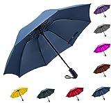 Fidus 折りたたみ傘 ワンタッチ自動開閉 逆折り式 完全遮光 UVカット率99.9% 高強度グラスファイバー8本骨 耐風撥水 晴雨兼用 レディース 旅行 アウトドア用 収納ポーチ付