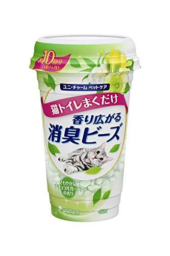 【まとめ買い】 消臭ビーズ 猫トイレまくだけ 香り広がる消臭ビーズ さわやかなナチュラルガーデンの香り ...