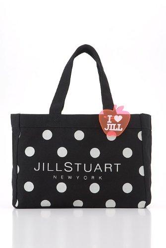 【即納】JILL STUART ジルスチュアート キャンパストートエコーバッグ Lサイズ ブラック