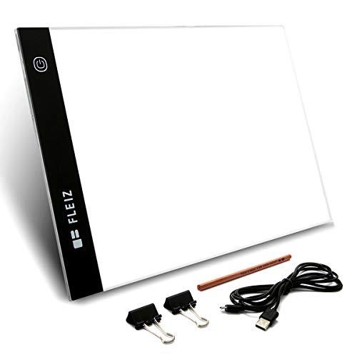 トレース台 Elfeland ライトボックス LED A4サイズ 超薄型 ライトテーブル 全面フラット 無段階調光 USBケ...